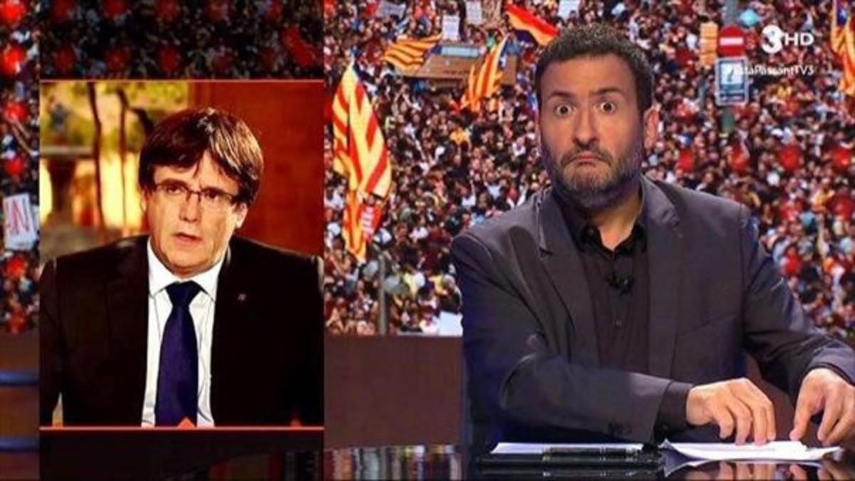 Un momento del programa 'Està passant', de TV-3.