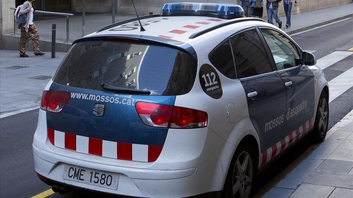 Una patrulla de los Mossos dEsquadra.