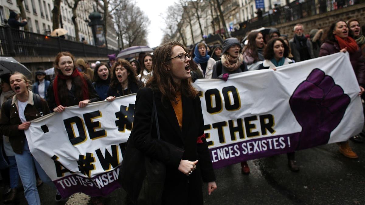 Manifestación del 8 de marzo en París.