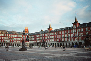 La Plaza Mayor de Madrid.