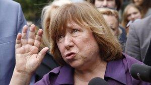 La escritora y Premio Nobel de Literatura bielorrusa,Svetlana Alexievich.