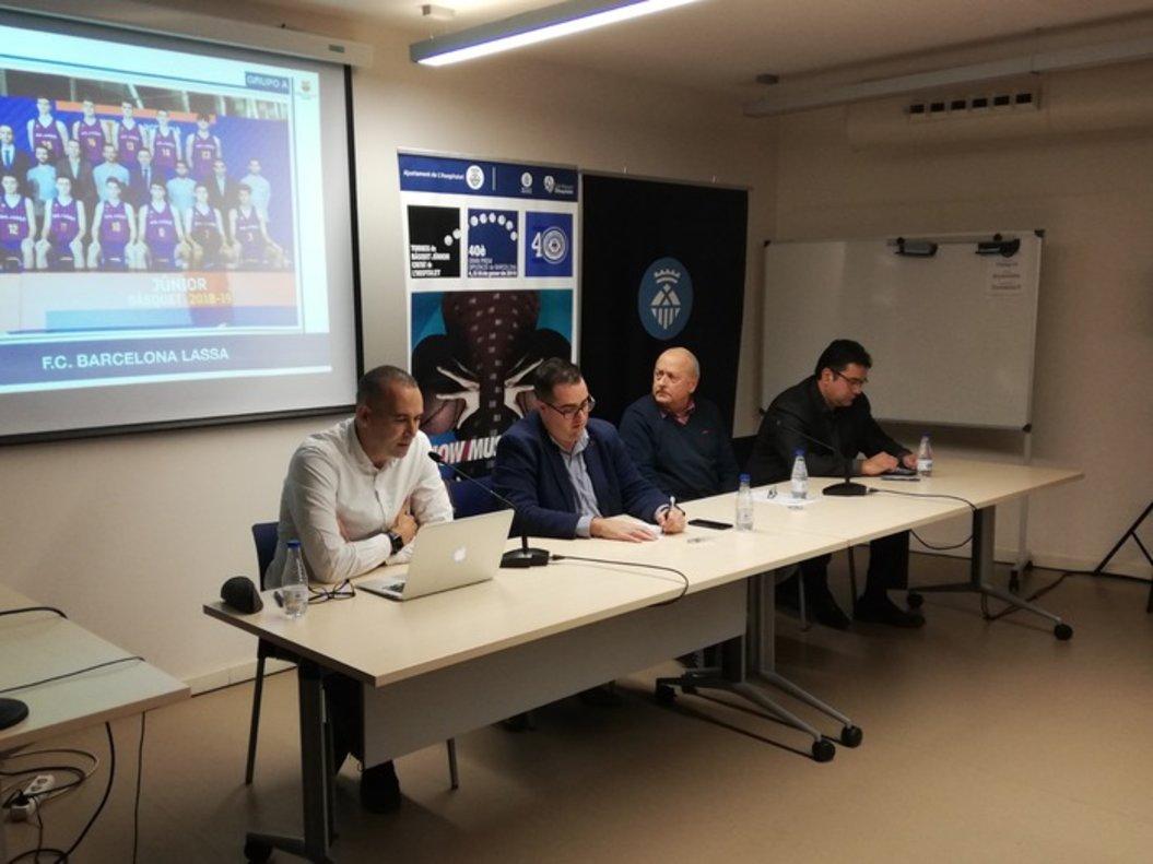 Presentación del 40º Torneo Júnior de L'Hospitalet este lunes en Can Riera