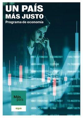 Programa económico de Más País