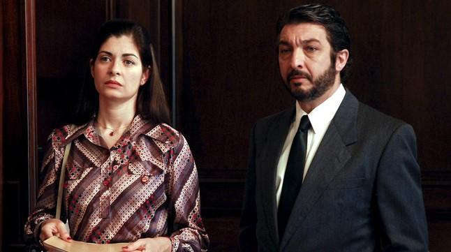 Ricardo Daríny Soledad Villamil, en una escena de El secreto de sus ojos.