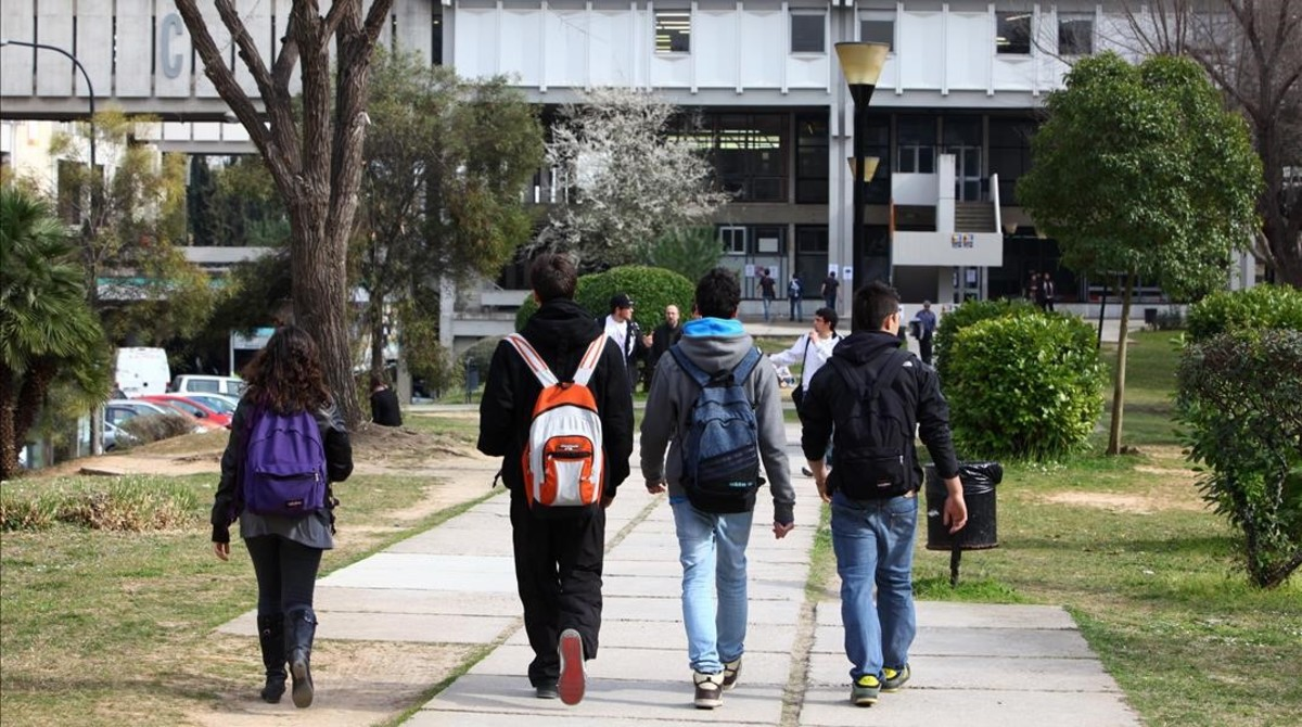 Un espacio del campus de la Universitat Autònoma de Barcelona (UAB)en Bellaterra.