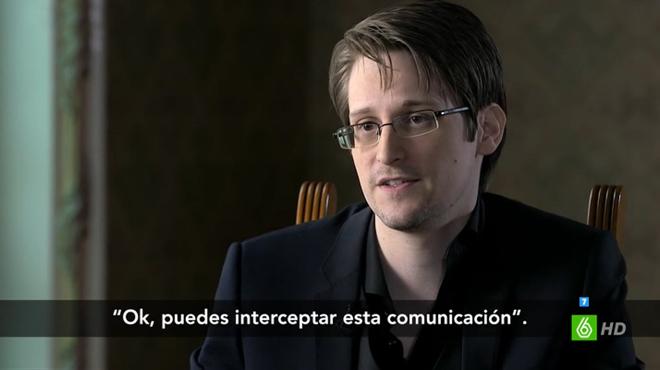 Edward Snowden con Ana Pastor, en Moscú ('El objetivo').