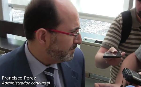 Francisco Pérez, administrador concursal, en la subasta que se ha producido esta mañana en el Juzgado de lo Mercantíl de Ciudad Real