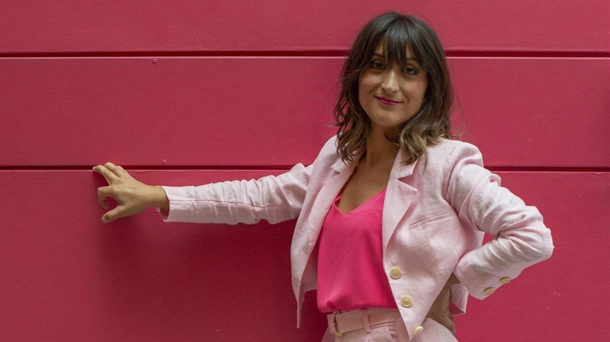 La reportera Susi Caramelo, el jueves, tras hablar por videconferencia de su nuevo programa 'Caramelo', de #0 de Movistar+.