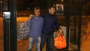 El investigado por el doble crimen de Susqueda, a su salida de la cárcel de Puig de les Basses, el pasado día 28.