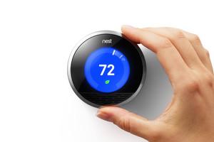 Termostato inteligente de Nest, basado en la internet de las cosas.