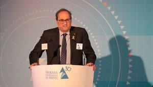 El 'president' de la Generalitat, Quim Torra, en un encuentro empresarial.