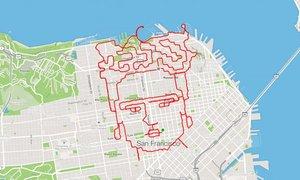 El trazado con el rostro de Frida Kahlo de Lenny Maughhan abarca más de 46 kilómetros.