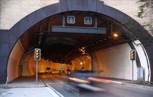 El túnel de la Rovira, en Barcelona.