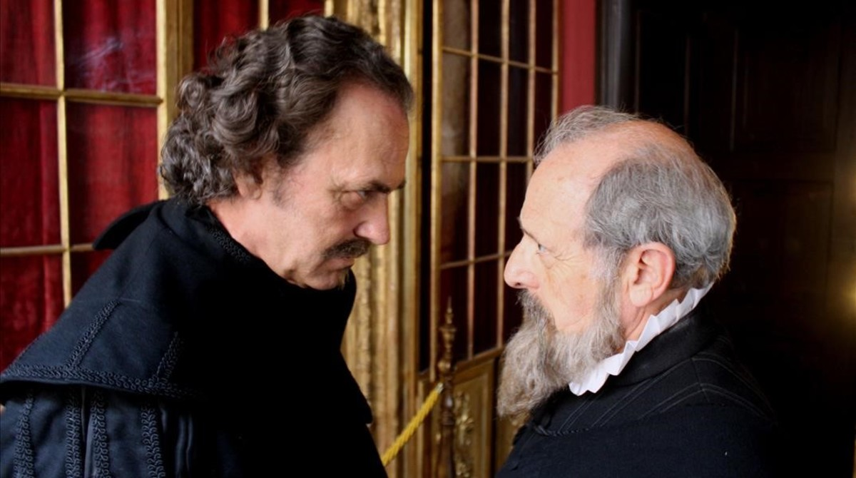 Jose Coronado y Emilio Gutiérrez Caba, en el telefilme de TVE Cervantes contra Lope, que abre el Festival Zoom de televisión.