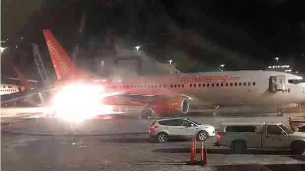 El xoc va provocar una petita explosió sense incidències, ja que no hi havia passatgers a bord.