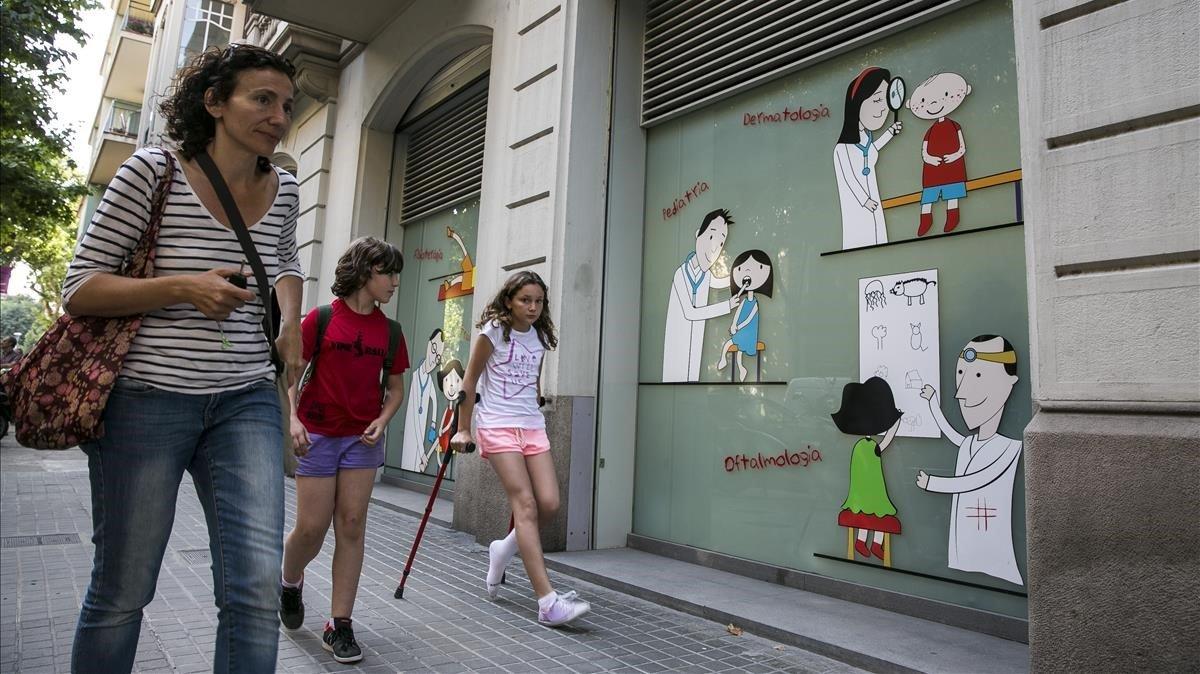 El Hospital de Nens de Barcelona, en la calle de Consell de Cent.