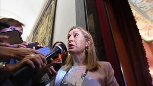 Ana Pastor, este lunes en el Congreso de los Diputados.