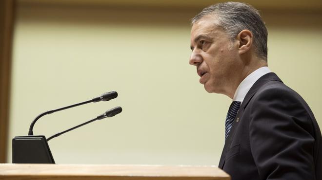 El lehendakari en funciones, Iñigo Urkullu, en el pleno de investidura del Parlamento Vasco: Euskadi es una nación.