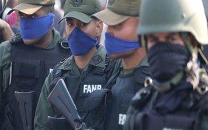 Protesta de miembros de las Fuerzas Armadas de Venezuela.