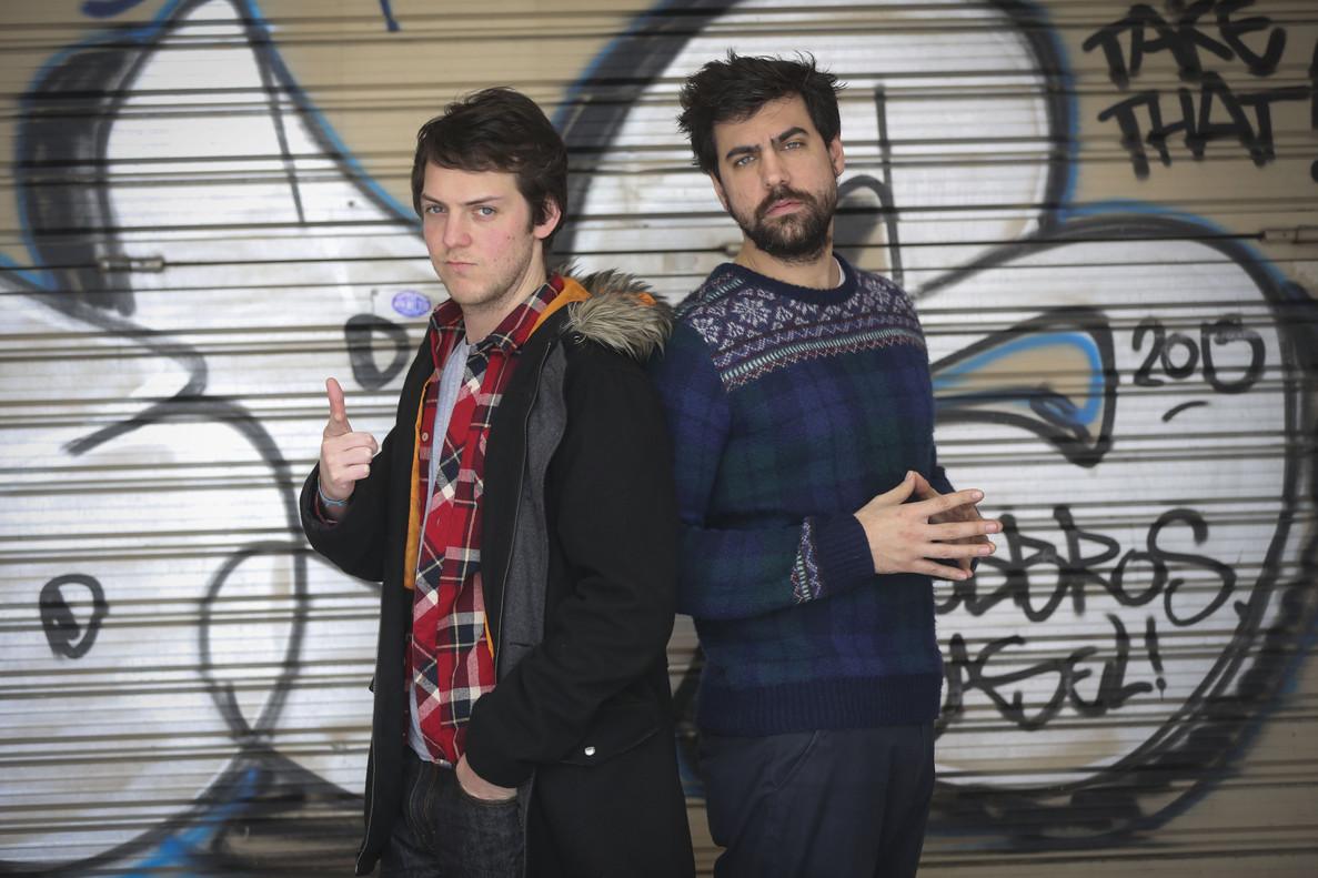 Xavi Daura y Esteban Navarro, Venga Monjas, en una foto de archivo