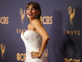 Vergara, en la alfombra roja de los 69º Premios Emmy, en Los Ángeles, el pasado día 17.