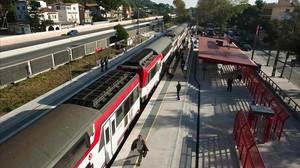 Estación de tren de Castelldefels.