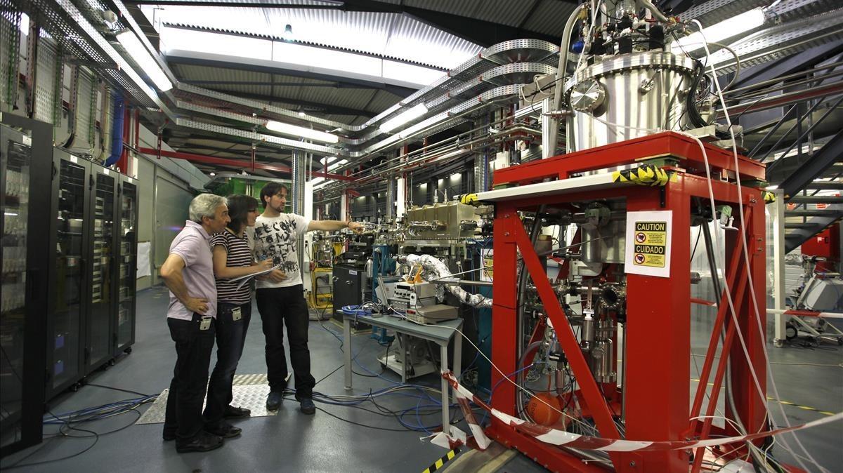 Vista interna del sincrotrón Alba, en el municipio de Cerdanyola del Vallès, una de las grandes instalaciones científicas de Catalunya.