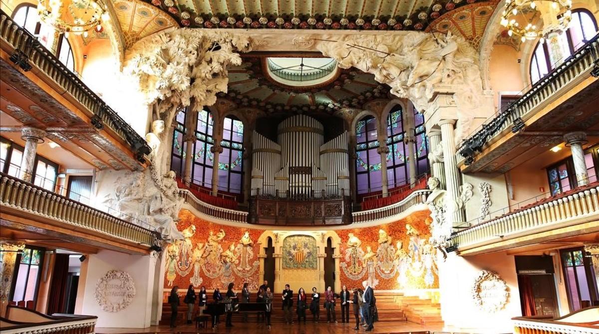 Escenario del Palau de la Música Caralana.