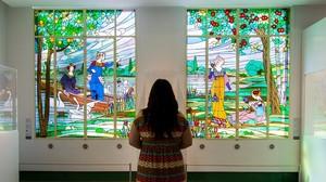Dos de los paneles del tríptico de Las damas de Cerdanyola, custodiado por el Museu dArt de Cerdanyola.