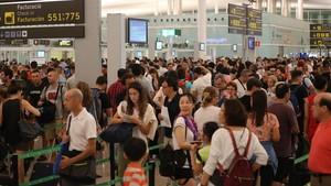 L'aeroport de Barcelona va aconseguir al juliol el seu millor mes de la història malgrat els conflictes