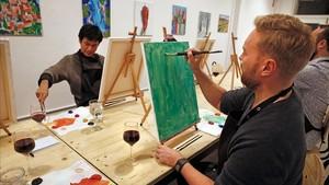 Vete de vinos a pintar un cuadro