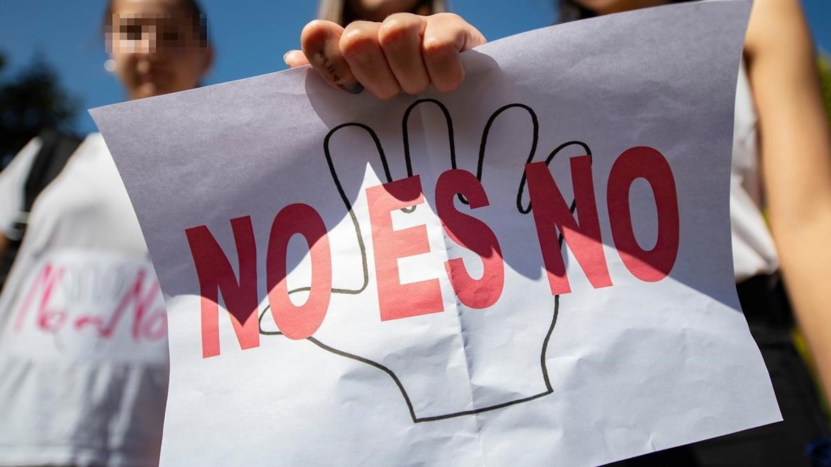 Una manifestación contra la violencia contras las mujeres en Toledo.