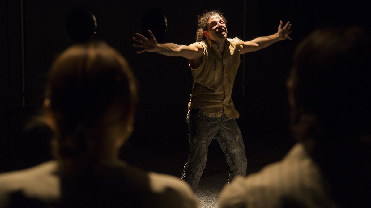 Una escena de 'Croades', interpretado por los actores de La Ratzia.
