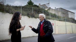López y Cánovas, el pasado viernes ante la antigua prisión para jóvenes de la Trinitat.