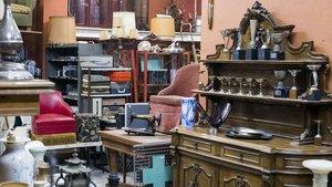 Imagen de archivo de una tienda de objetos de segunda mano