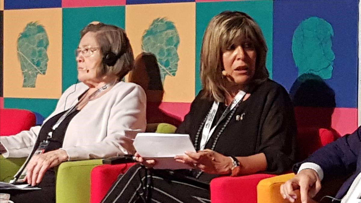 La presidenta de la Diputación de Barcelona, Núria Marín, en la cumbre de gobiernos locales y regionales de Durban (Sudáfrica).