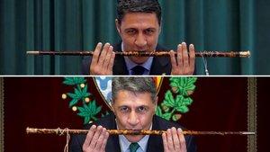Xavier García Albiol, en su toma de posesión como alcalde de Badalona en el 2011 (arriba) y el pasado 12 de mayo.