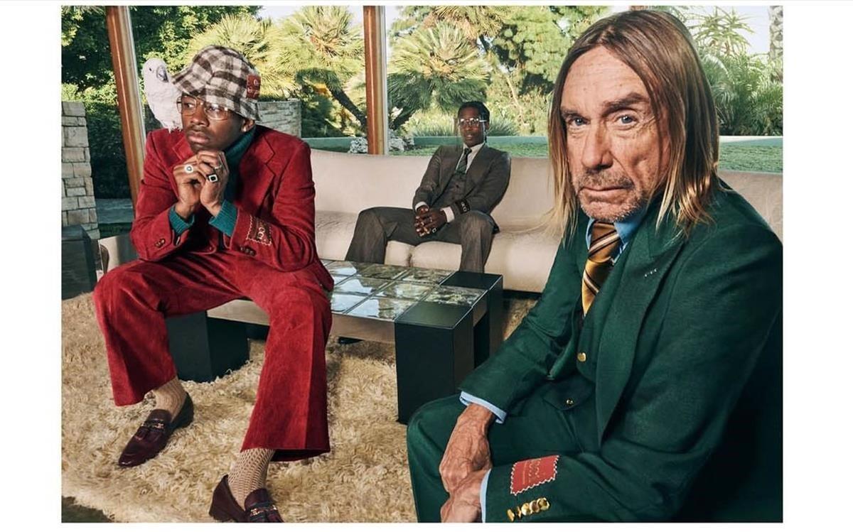 Iggy Pop, A$AP Rocky yTylerThe Creator protagonizan la nueva campaña de Gucci.