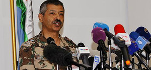 El general de divisió jordà Mansur al-Jbur, aquest diumenge.