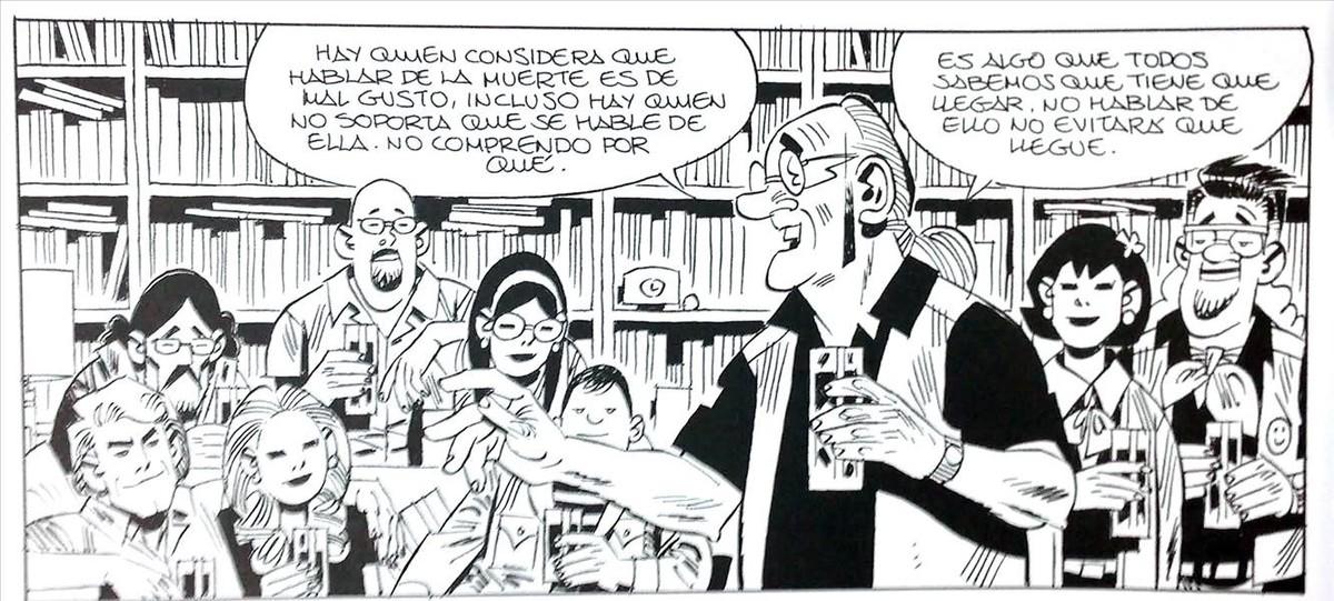 Viñeta de Crisálida, el nuevo cómic de Carlos Giménez.