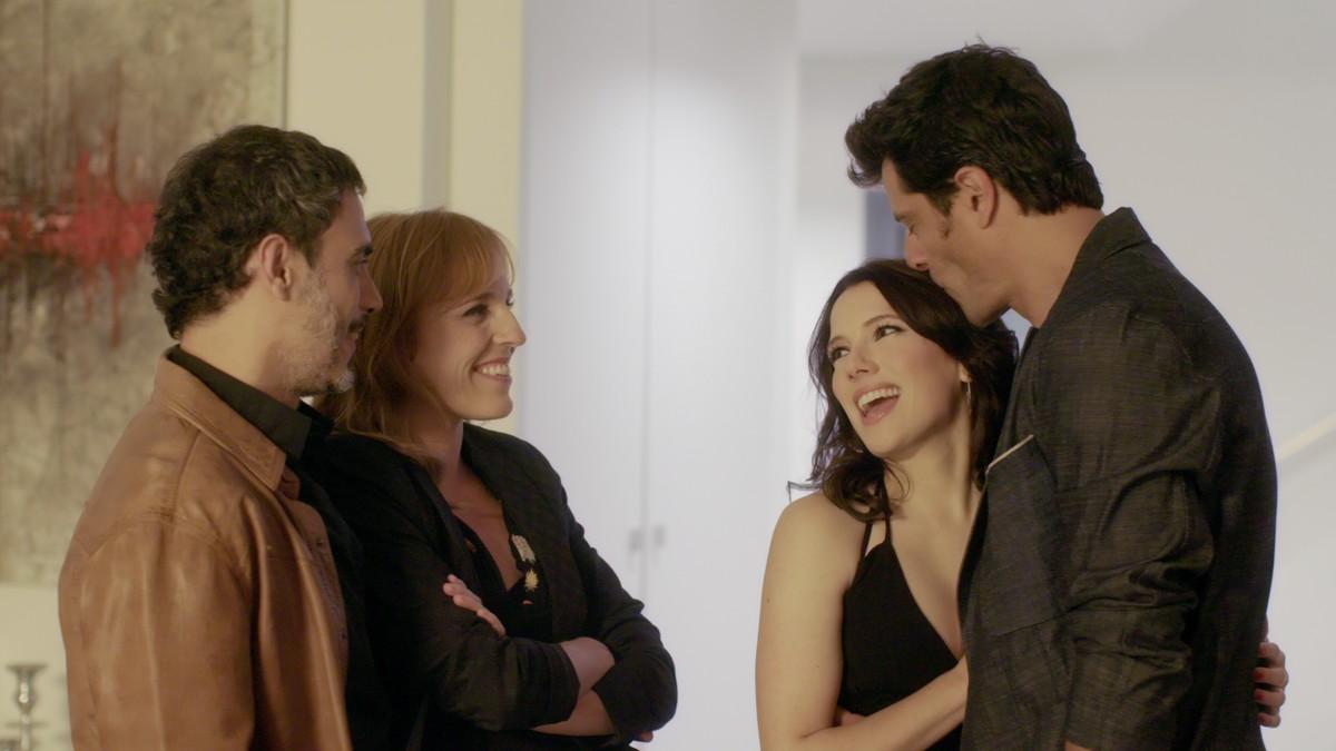 Julio Manrique, Sara Espígul, Diana Gómez y Joel Joan, en 'El crac'