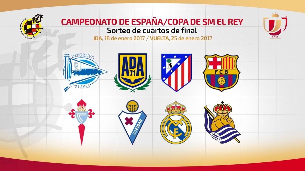 El sorteo de cuartos de la Copa del Rey, en directo online