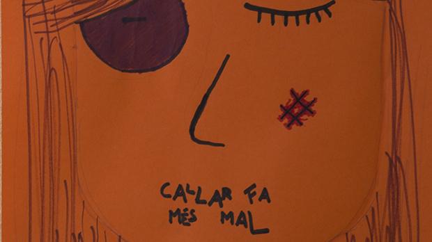 Alumnes de linstitut Goya de Barcelona durant les activitats contra el maltractament masclista