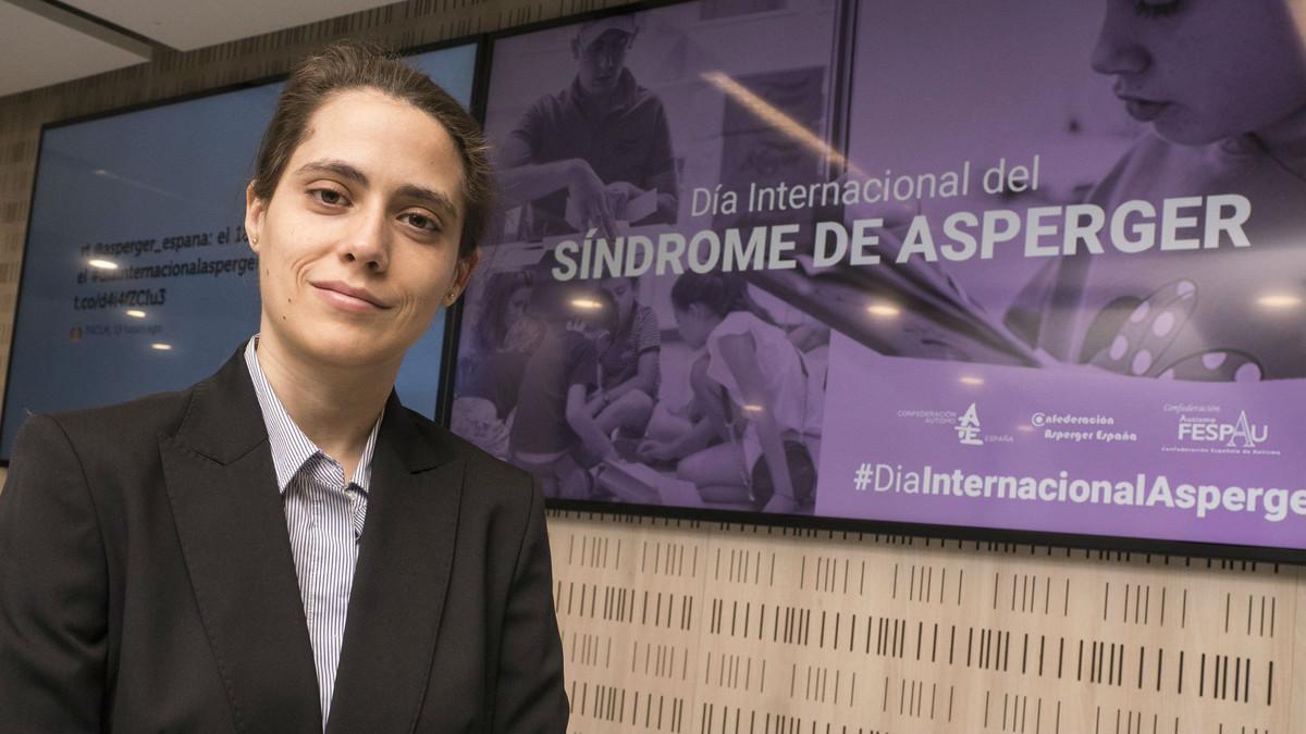 La diseñadora Macarena Barca, en la presentación del Día Internacional del Asperger 2018