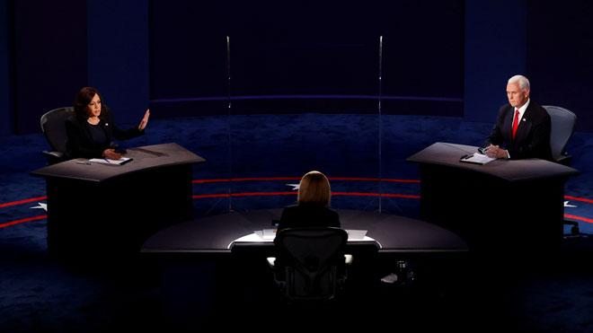 Pence y Harris chocan por el coronavirus en el debate
