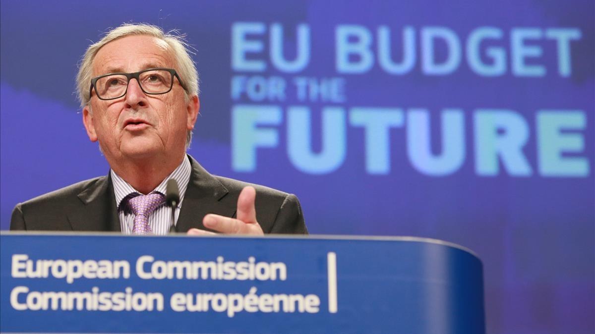 El presidente de la Comision Europea, Jean Claude Juncker, en Bruselas este martes.