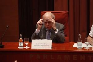 Jordi Pujol, durante su comparecencia en la comisión de investigación del Parlament.