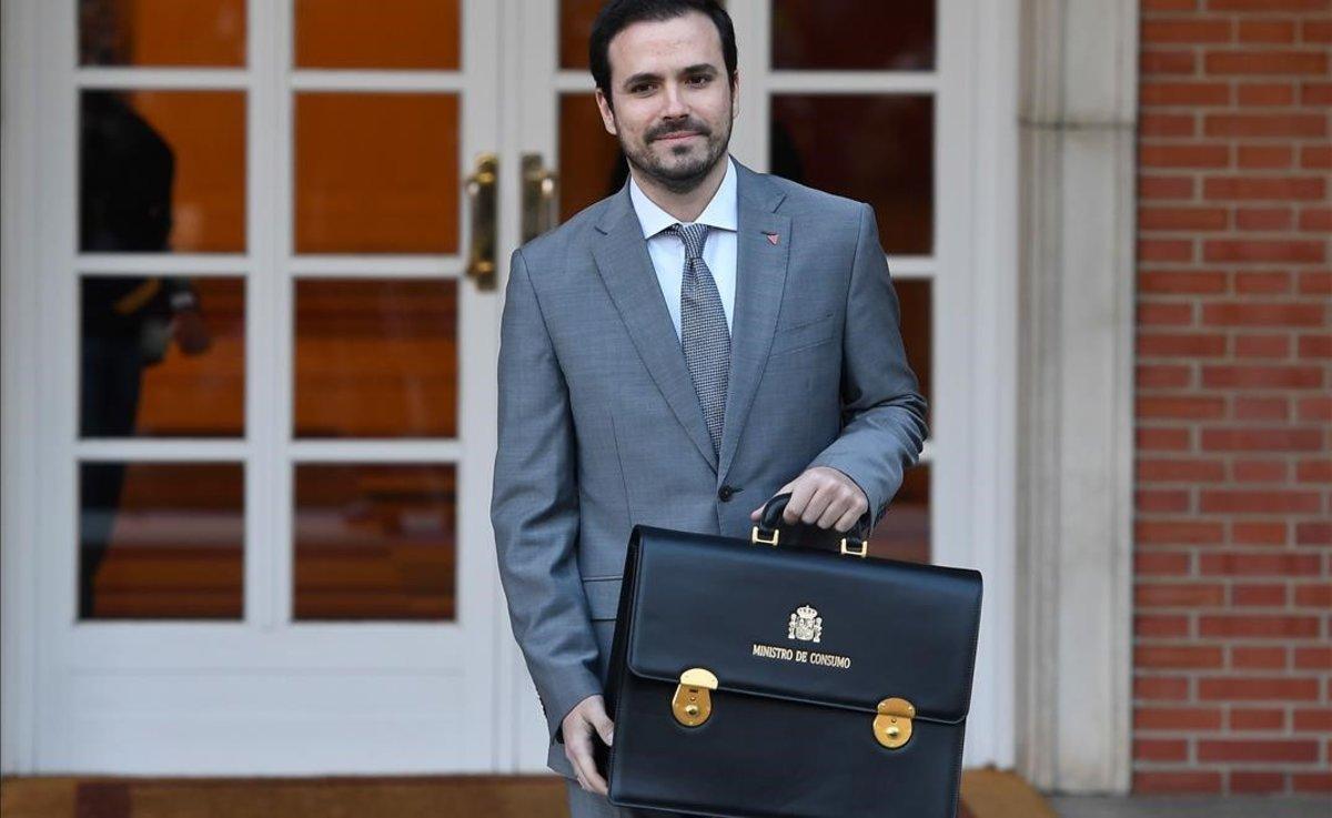 Alberto Garzón llega a la Moncloa.