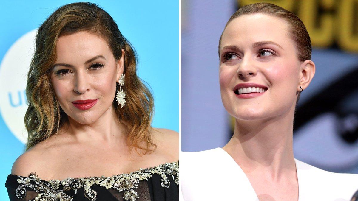 Alyssa Milano y Evan Rachel Wood, dos referentes del #Metoo de Hollywood.