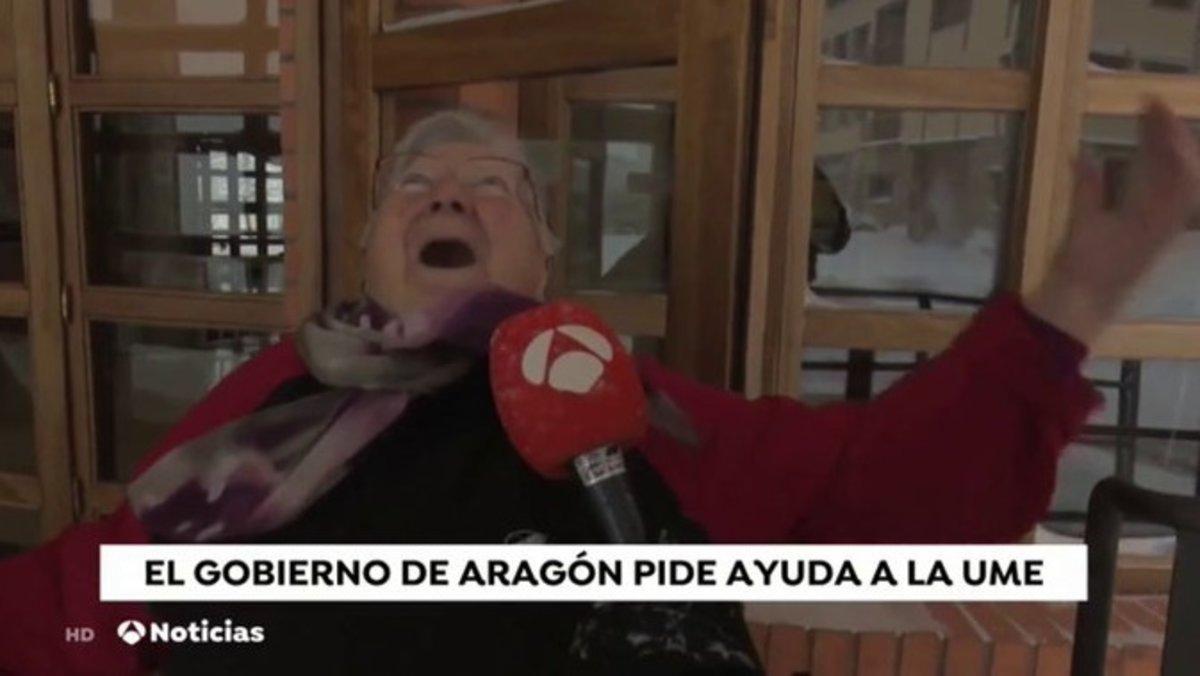 Angelines, la señora viral de 'Antena 3 Noticias' por su inmensa felicidad con la nieve